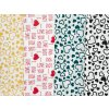 DOMESTIK 145/16867-13 I LOVE YOU červená / METRÁŽ NA MÍRU