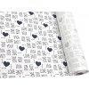 DOMESTIK 145/16867-11 I LOVE YOU tmavě-modrá / METRÁŽ NA MÍRU
