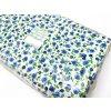 HERA 120 (R065-3 Květy modré, drobný tisk)-150cm / VELKOOBCHOD