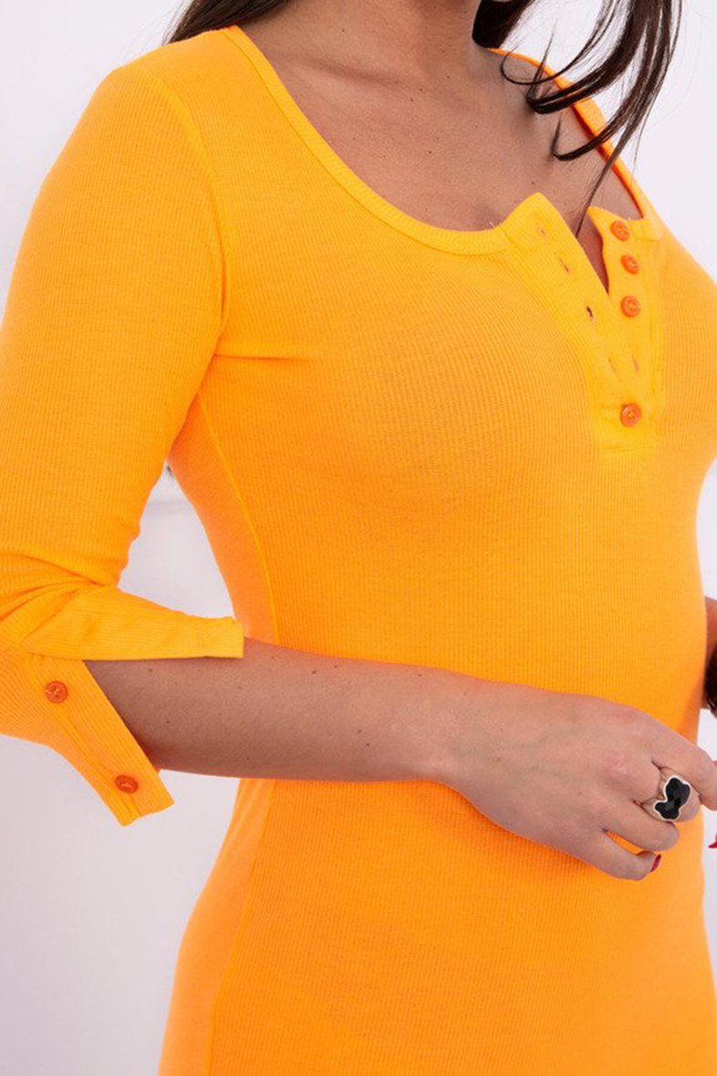eng_pm_Dress-with-neckline-with-buttons-orange-neon-14801_4