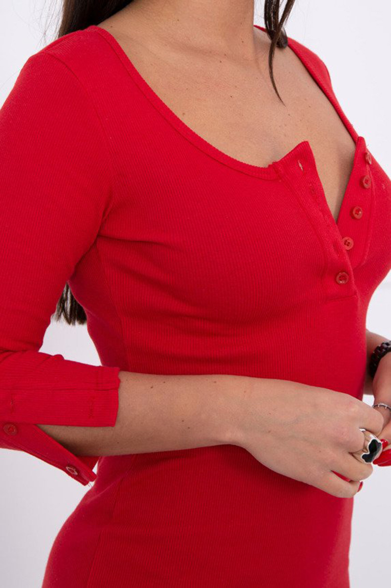 eng_pm_Dress-with-neckline-with-buttons-red-14800_3