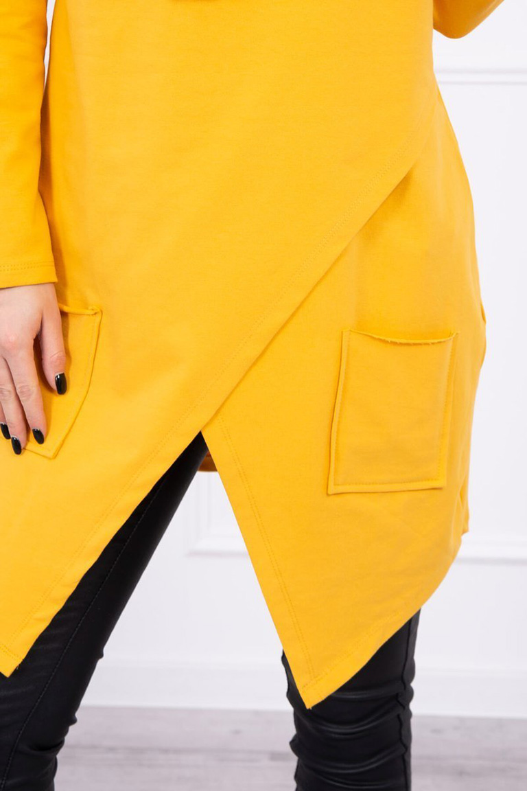 eng_pl_Tunic-with-envelope-front-Oversize-mustard-16545_4