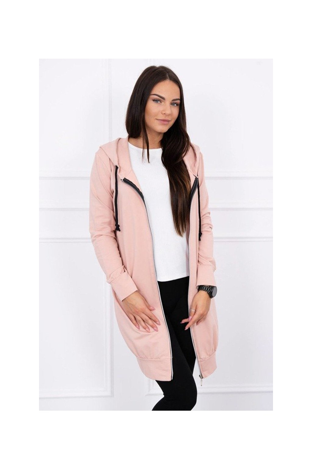 eng pm Hooded dress with a hood dark powdered pink 12826 2