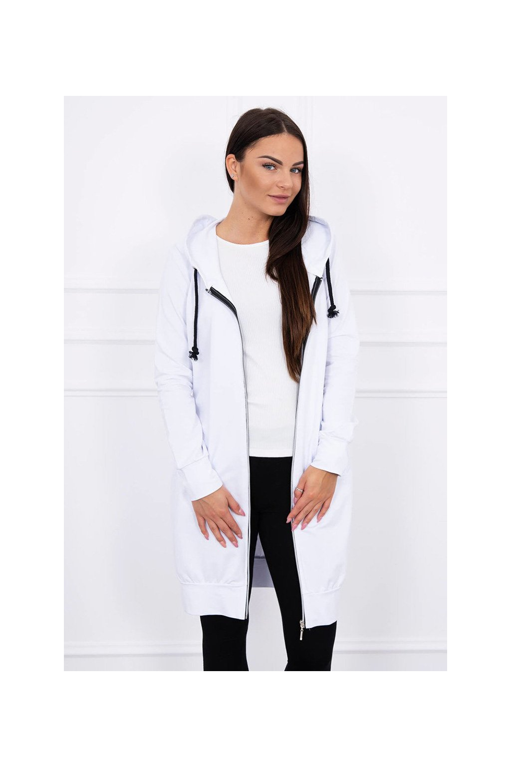 eng pl Hooded dress with a hood white 12827 2