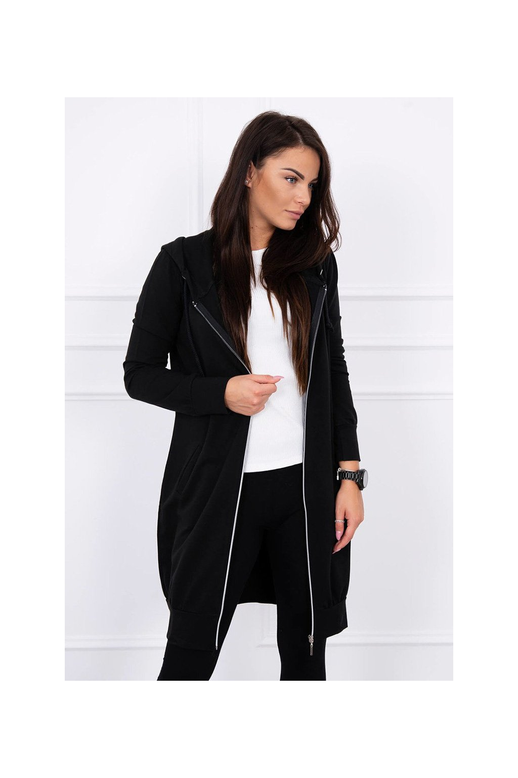 eng pl Hooded dress with a hood black 12829 2