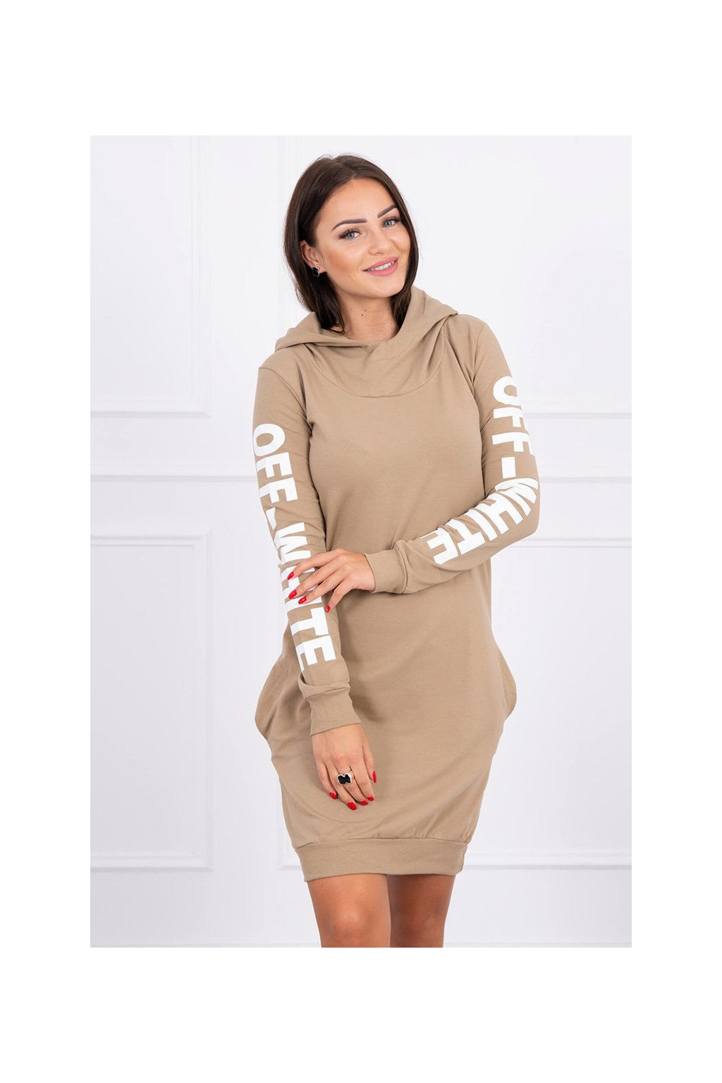 eng pl Dress Off White camel 15797 3