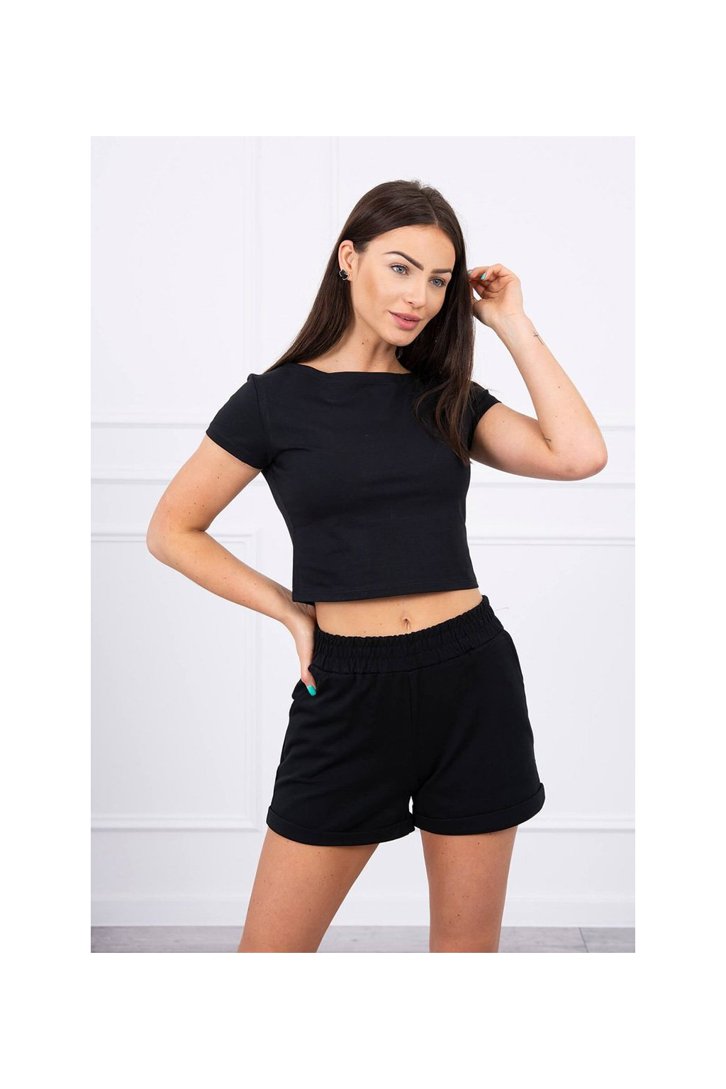 eng pl Cotton set with shorts black 17456 3