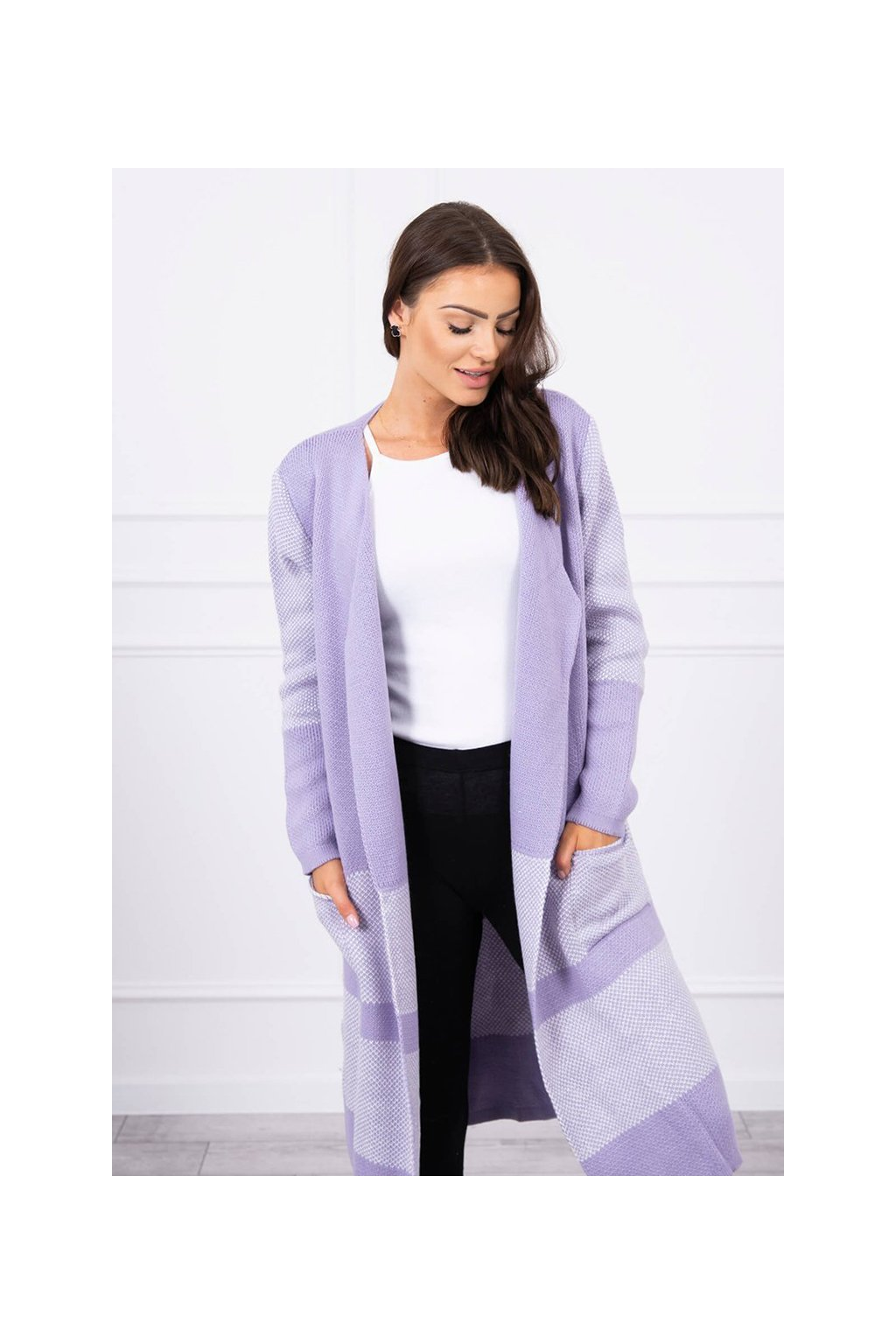 eng pl Lapel sweater purple 17636 2