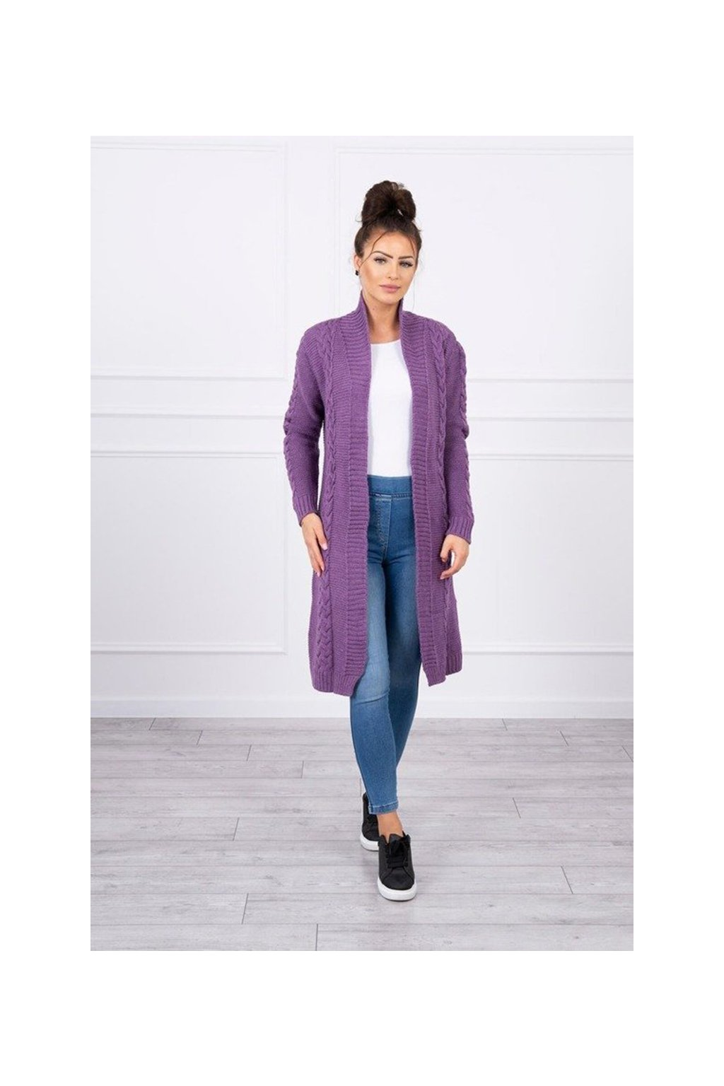 eng pm Sweater Cardigan weave the braid purple 17602 1