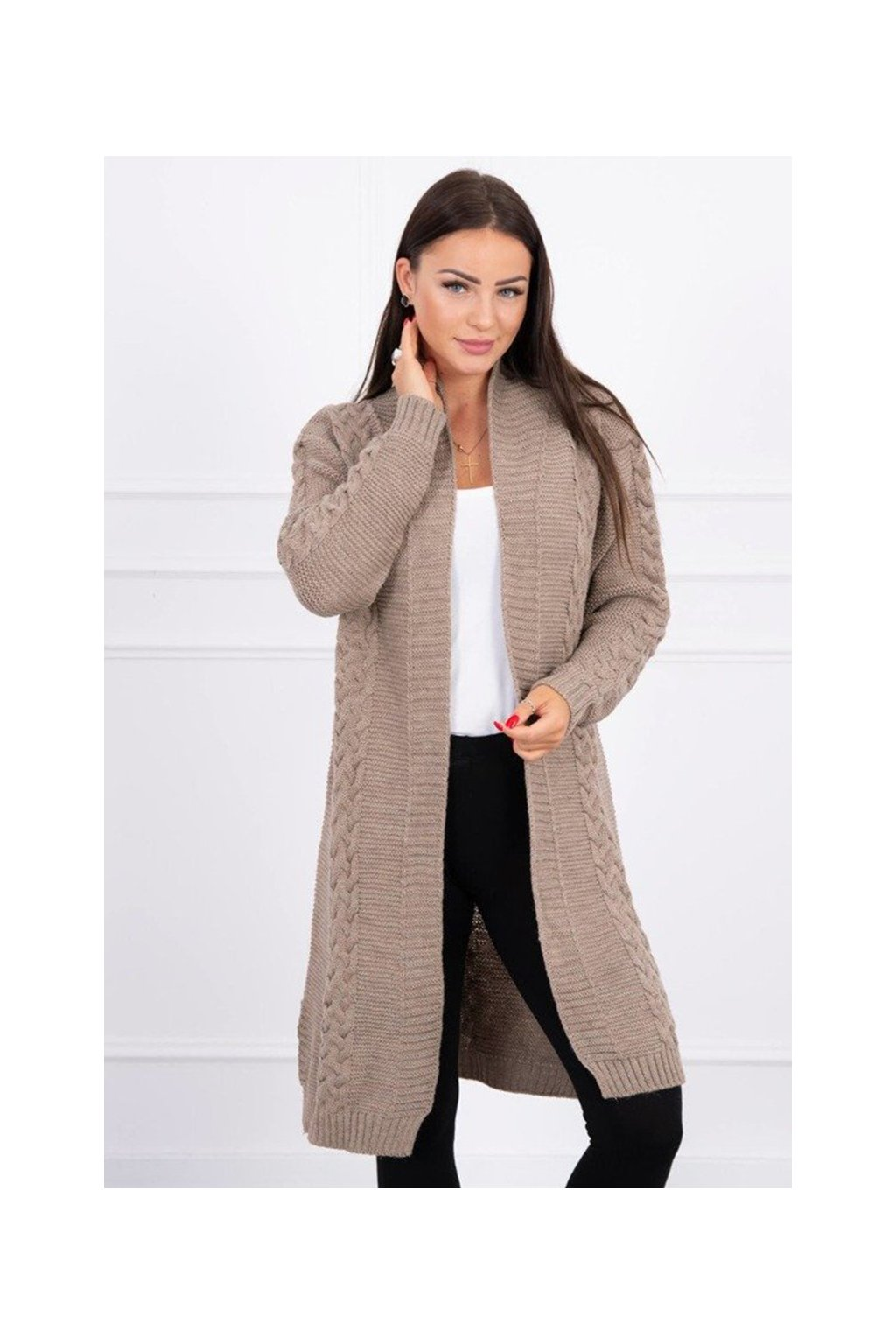 eng pm Sweater Cardigan weave the braid capuccino 15735 2