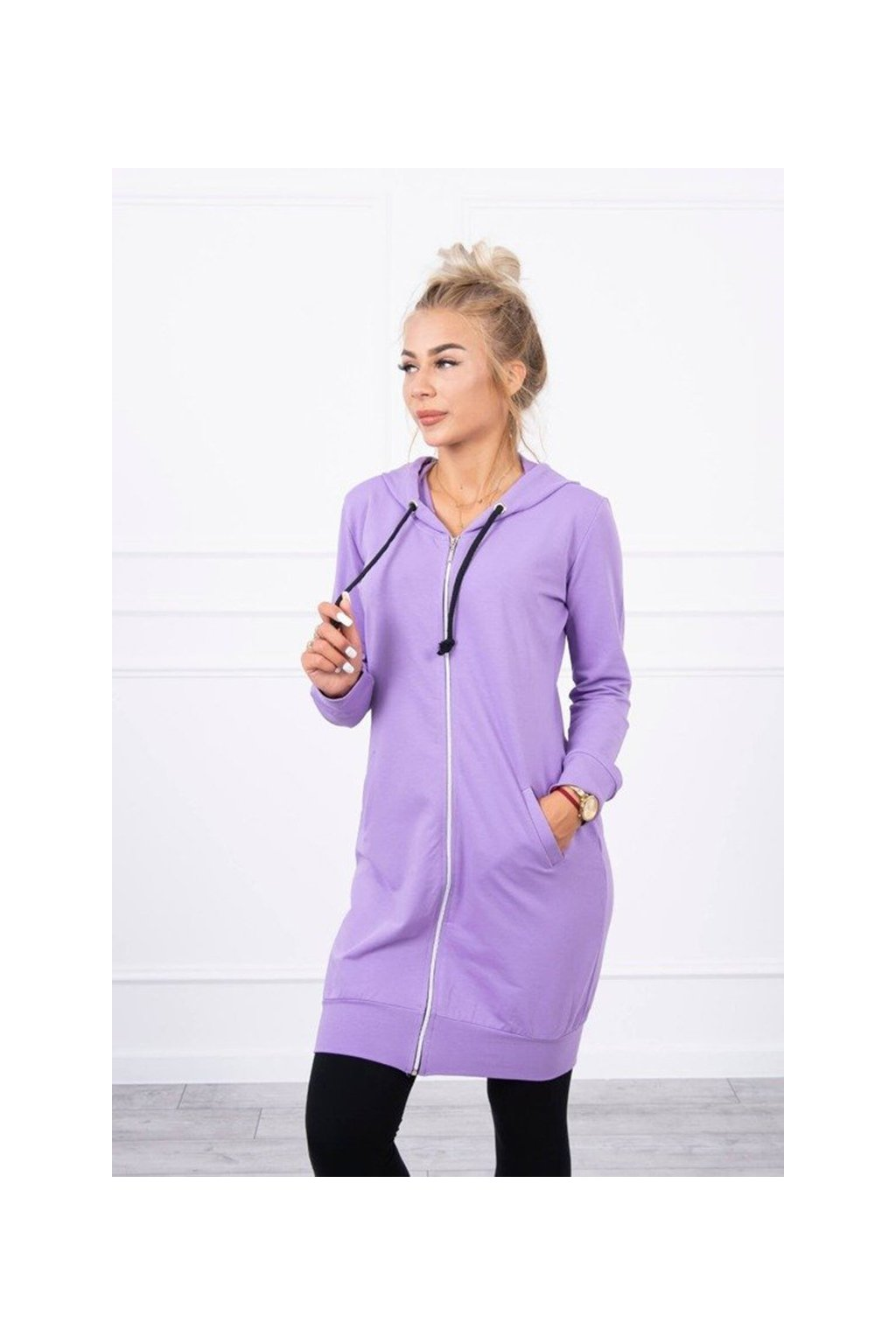 eng pm Hooded dress with a hood dark purple 18081 2
