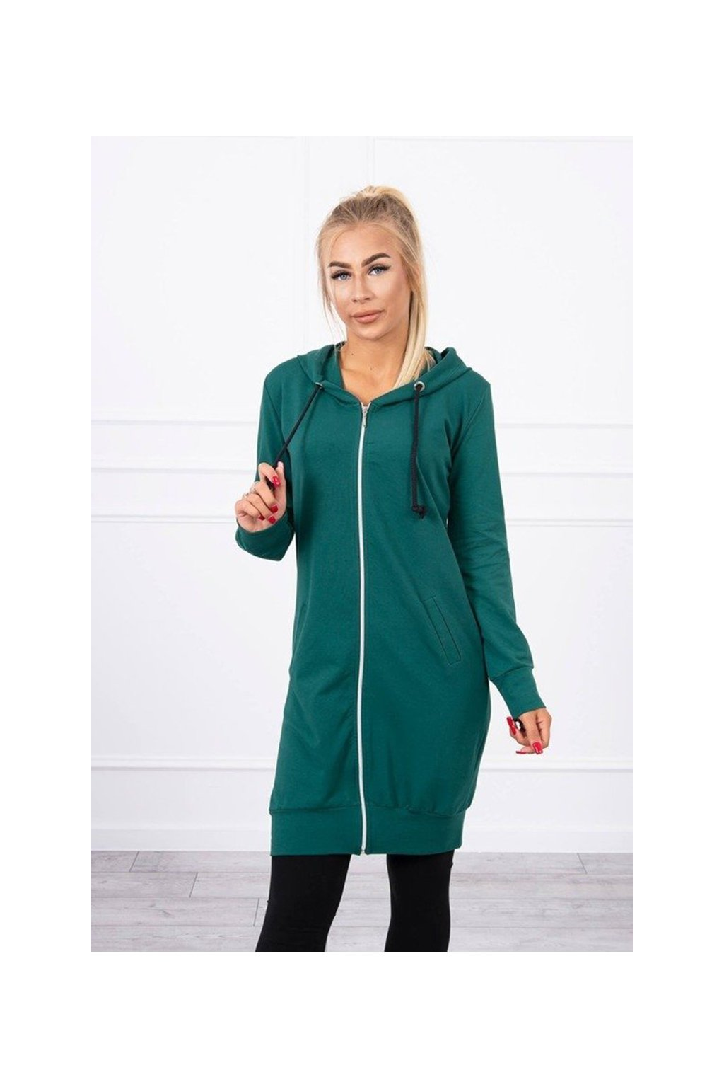 eng pm Hooded dress with a hood green 18216 3