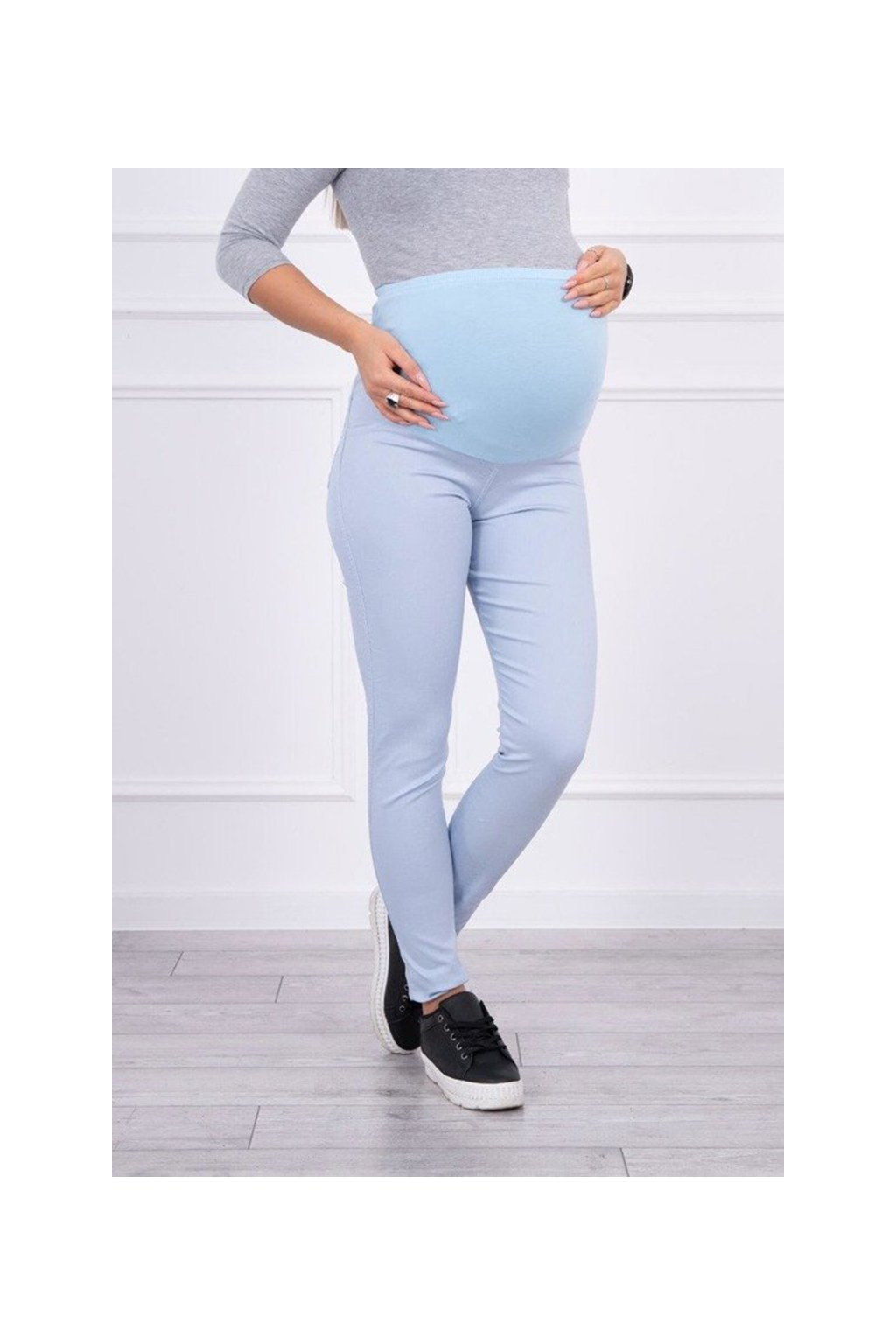eng pm Maternity pants colored jeans blue ice 15029 3