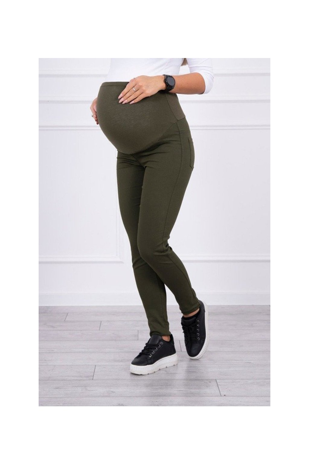 eng pm Maternity pants colored jeans khaki 15035 3