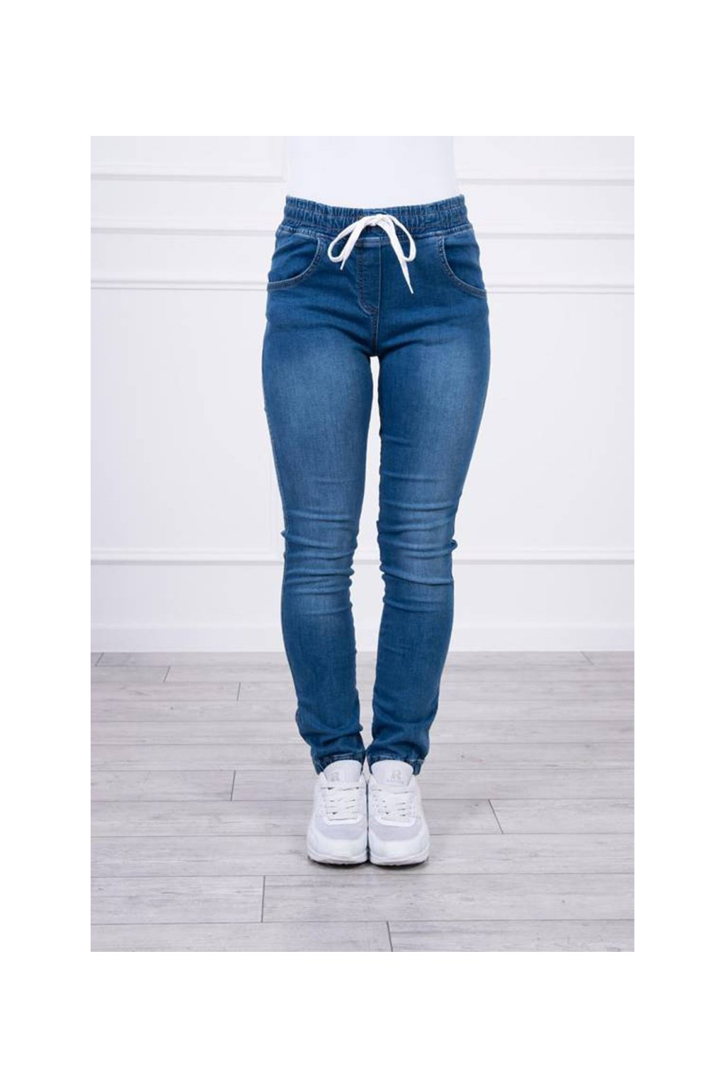 eng pm Denim trousers with a drawstring jeans 19714 4