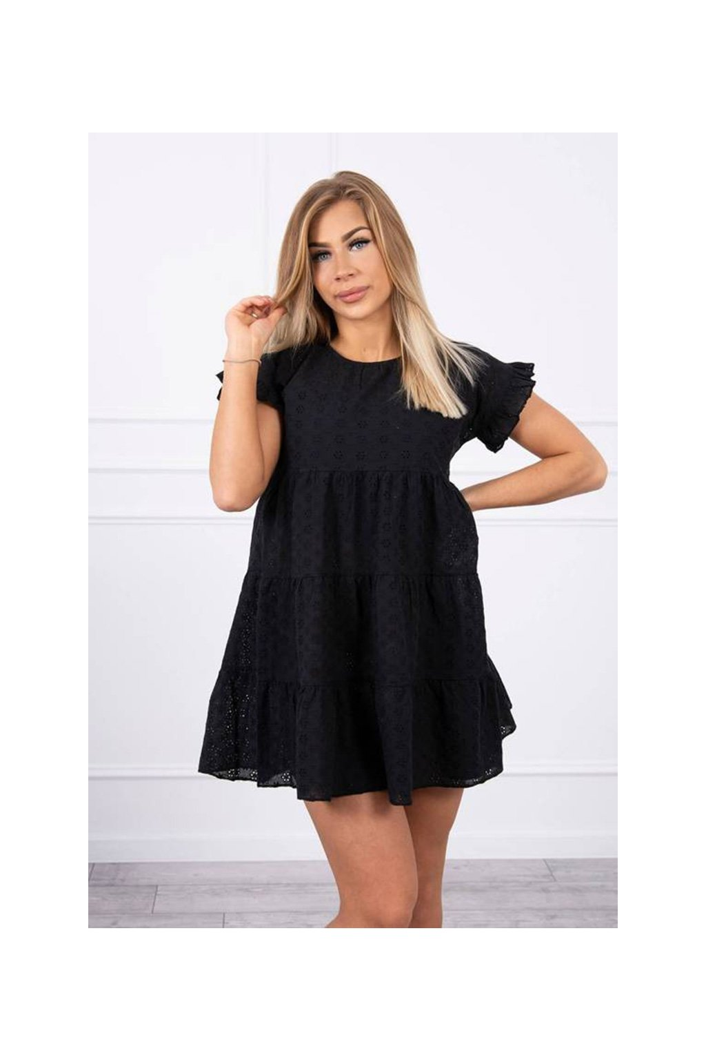 eng pm Embroidered flared dress black 19926 2