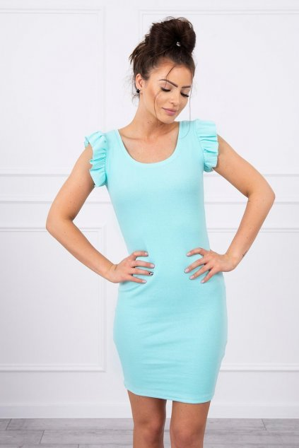 eng pl Dress with frills on the sleeve mint 17614 3