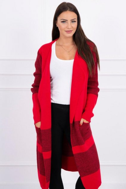 eng pl Lapel sweater red 15816 3