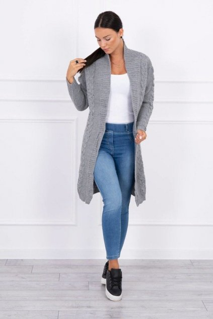 eng pm Sweater Cardigan weave the braid gray 15401 1