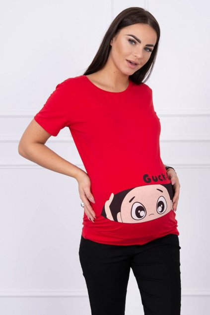 eng pm Maternity blouse Guck red 14244 1