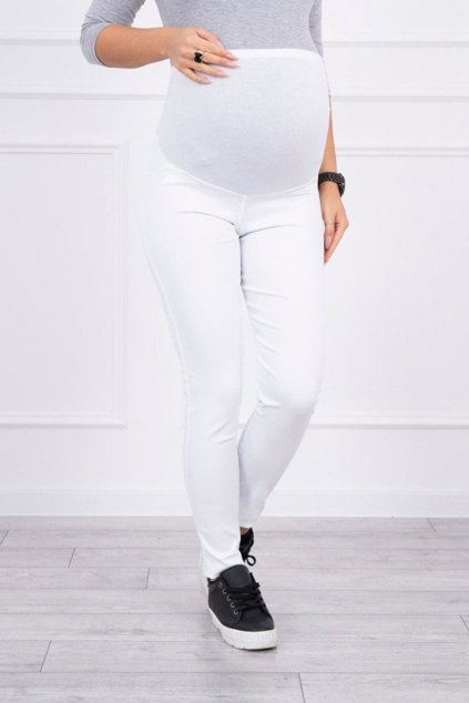eng pm Maternity pants colored jeans white 15028 4