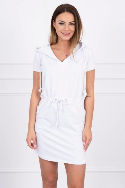 eng pm Tied dress with hood white 15219 4