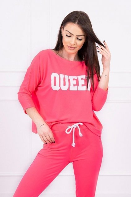 eng pm Set with Queen print pink neon 17311 2