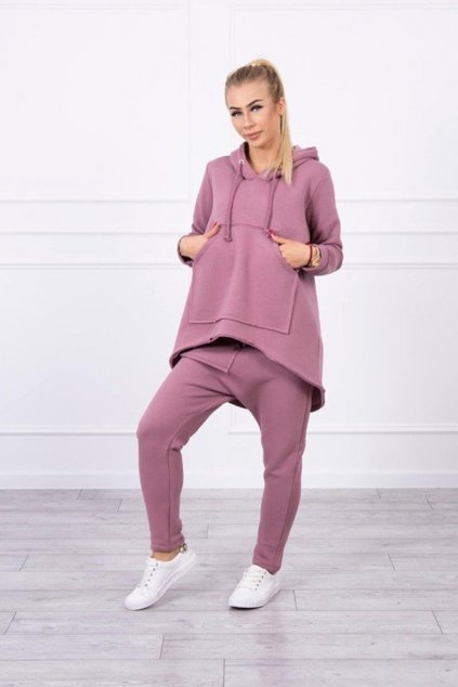 eng pm Set with pants Baggy dark pink 17849 1