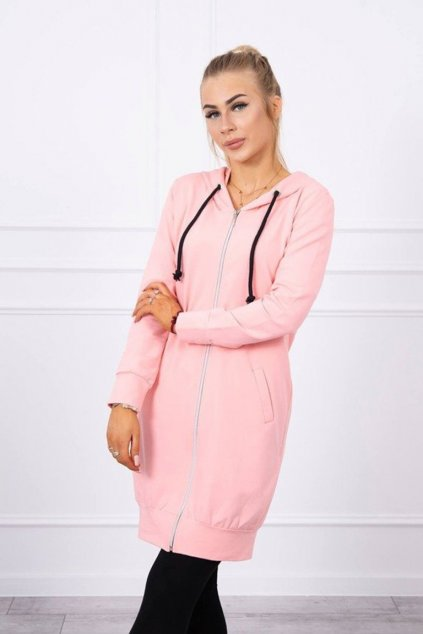 eng pm Hooded dress with a hood salmon 17742 2