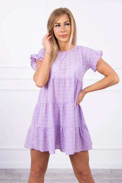 eng pm Embroidered flared dress purple 19927 2