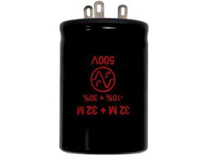 Kondenzátor TC529  2x32μF/500V