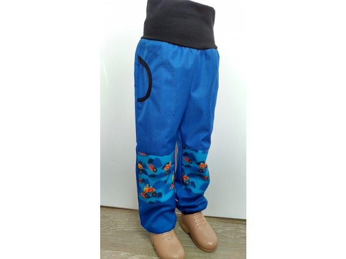 Softshelové kalhoty - modré-  trucky