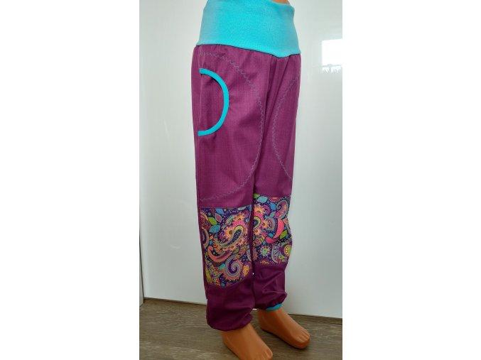 Softshelové kalhoty - fialové - orient