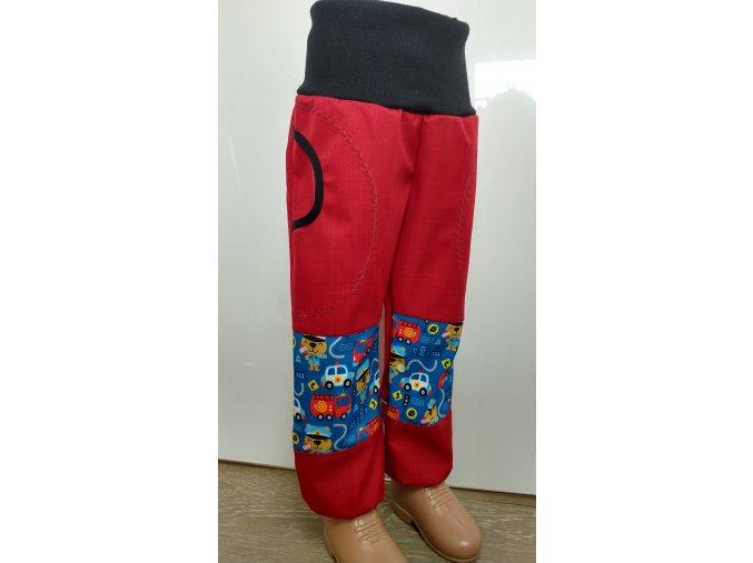 Softshelové kalhoty - červená - hasiči