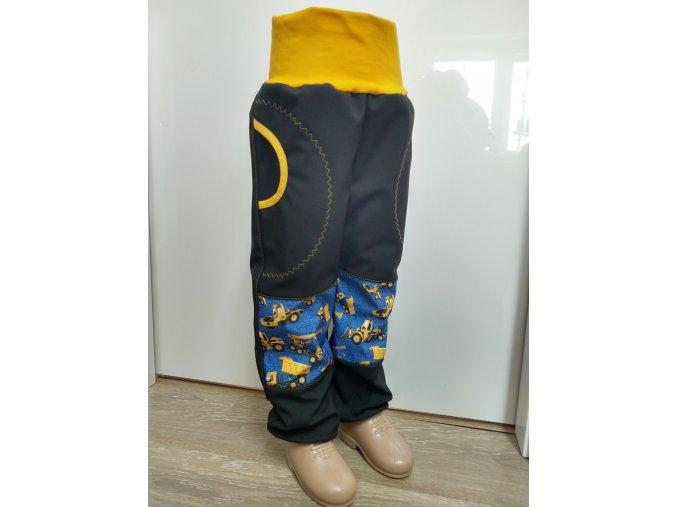 Softshelové kalhoty - černé - bagr