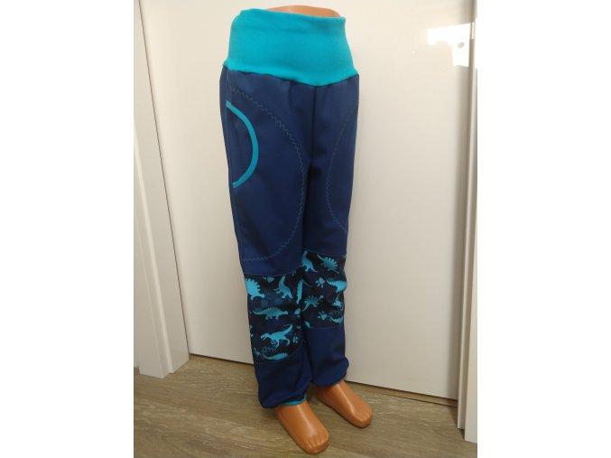 Softshelové kalhoty - tmavě modré - disaurus
