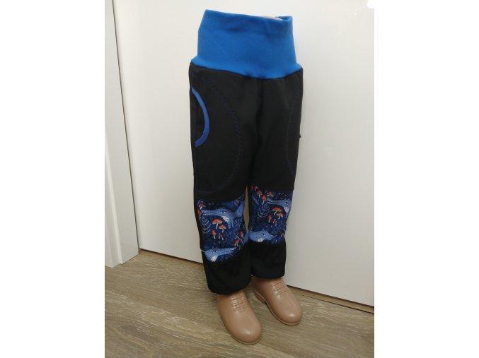 Softshelové kalhoty - černé - vlci