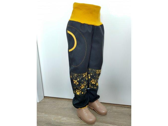 Softshelové kalhoty - černé - ťapky