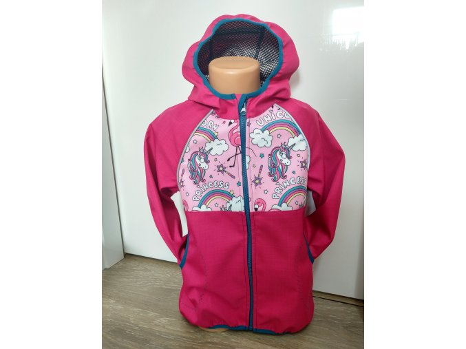 Softshellová bunda – růžová – princezny