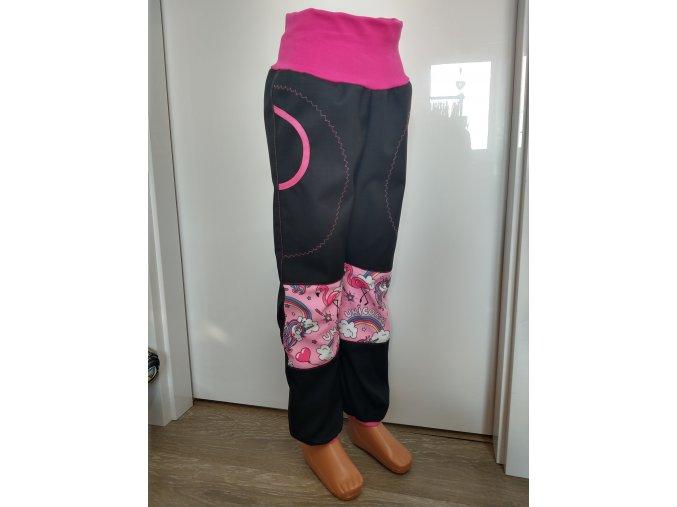 Softshelové kalhoty - černá - princezny