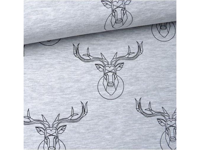 teplakovina jelen deer svetlosedy melir takoy latky metraz1
