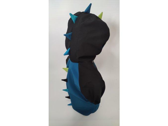 Softshellová DINO bunda - černá, petrolej