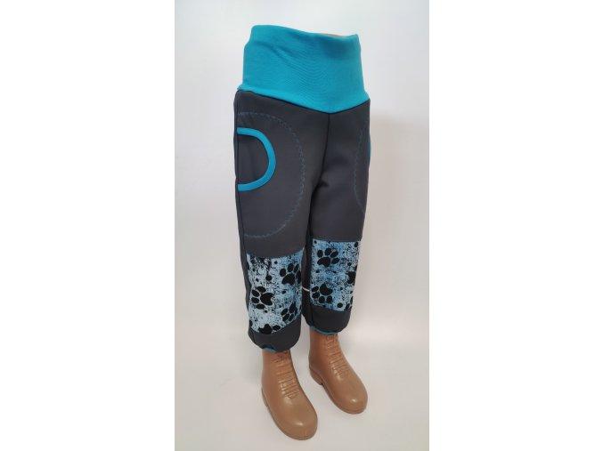 Softshelové kalhoty - černé -  tlapky