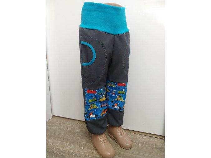 Softshelové kalhoty - šedé - auta