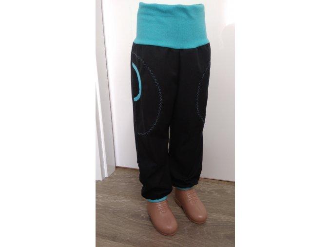 Softshelové kalhoty - černé
