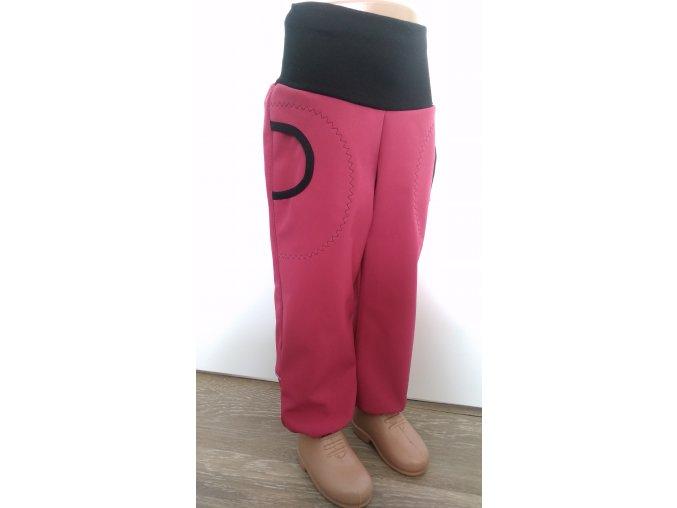 Softshelové kalhoty - růžové