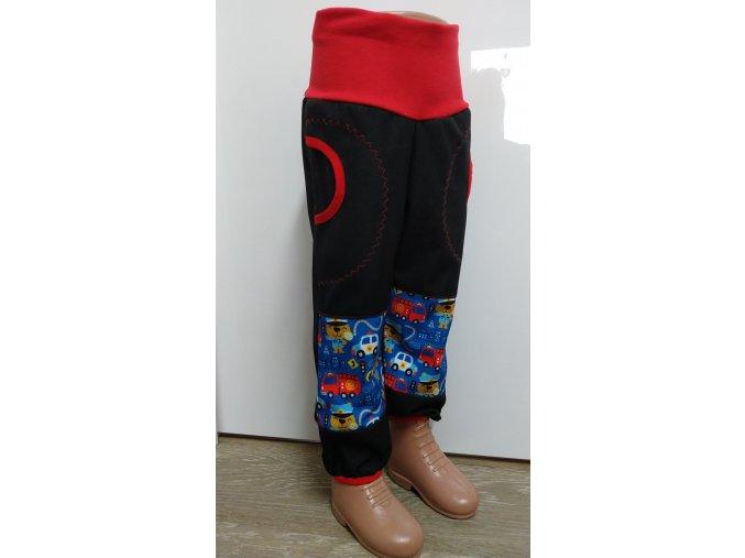 Softshelové kalhoty - černé - hasiči