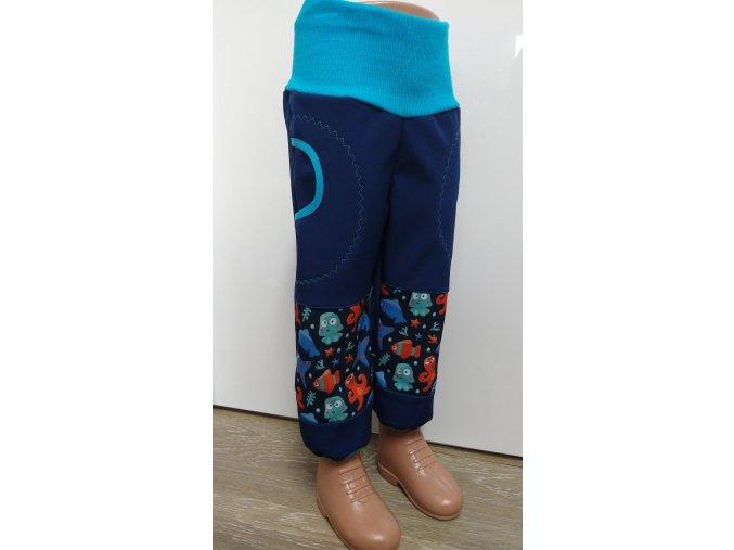 Softshelové kalhoty - tmavě modré - mořské plody