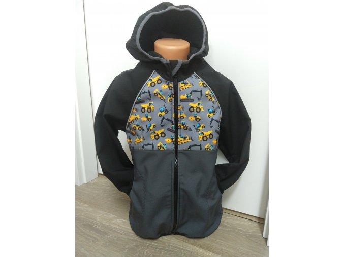 Softshellová bunda – šedá – černá – bagry