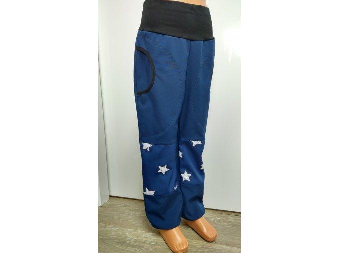 Softshelové kalhoty - tmavě modré - hvězdy